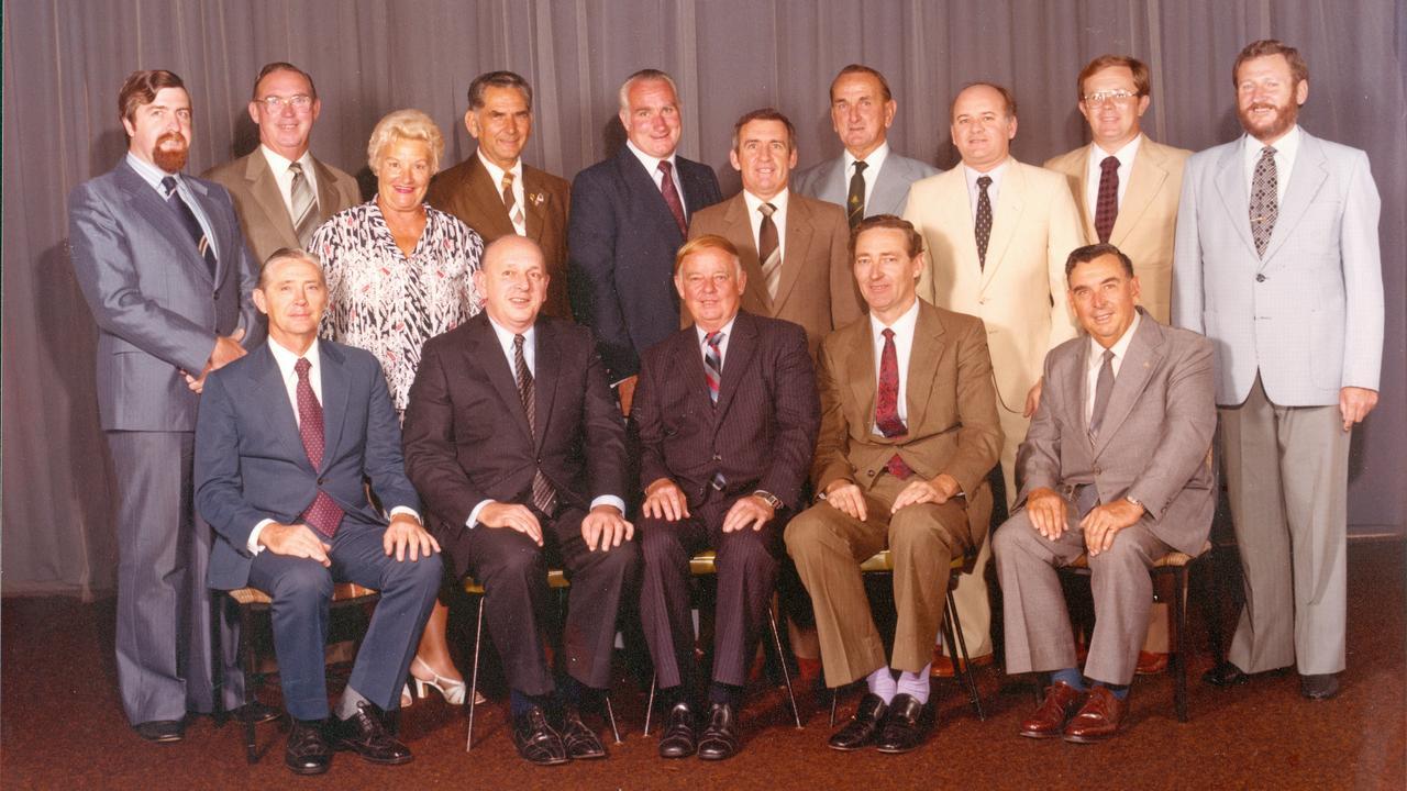 Des Freeman (bottom middle) was mayor of Ipswich between 1979 and 1991.