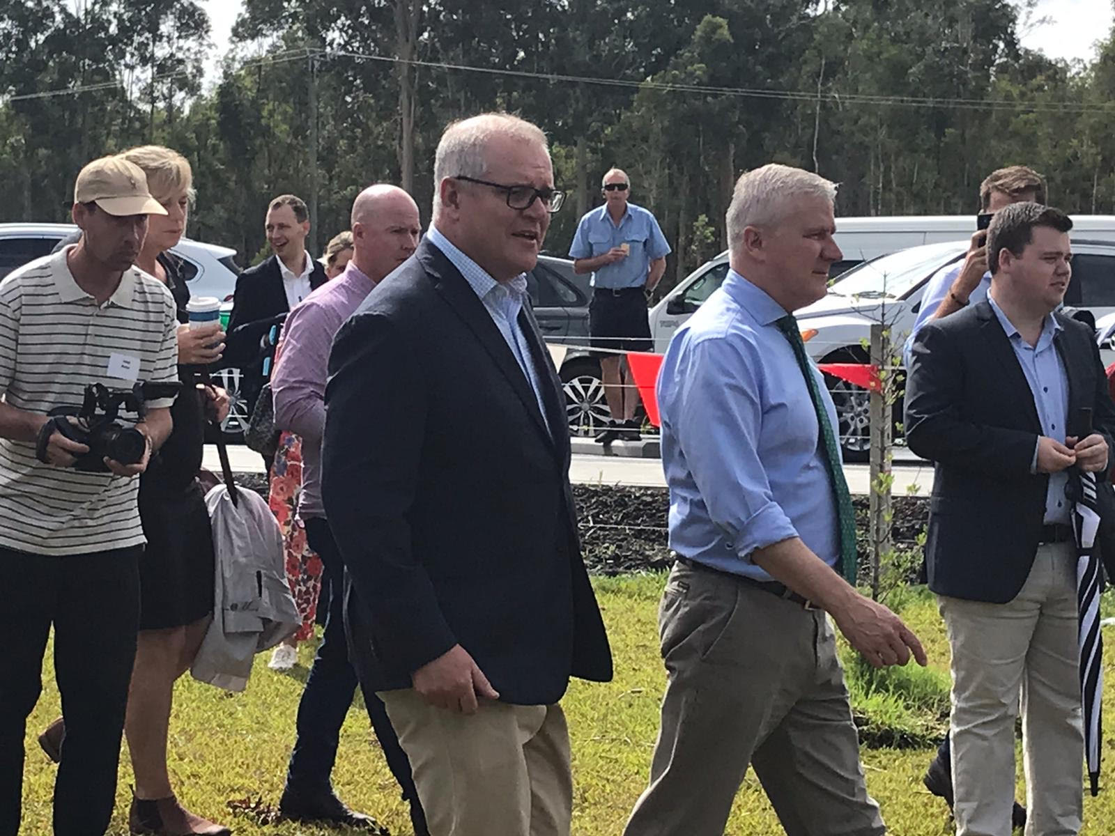 Prime Minister Scott Morrison at the grand opening of the Pacific Highway upgrade in New Italy.