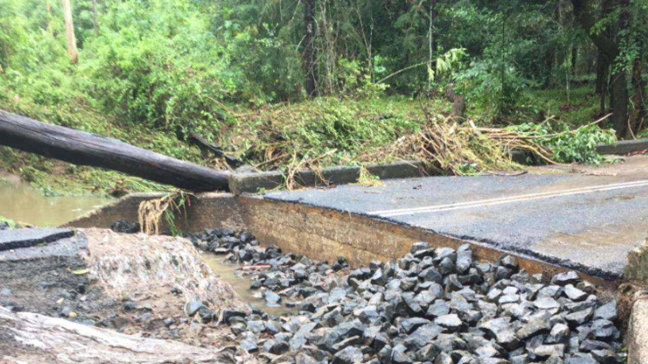 Damage to infrastructure has cut off Nimbin's water supply.
