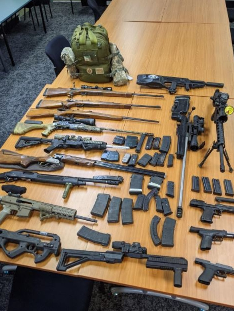 Ammunition allegedly seized from an aircraft in Brisbane.