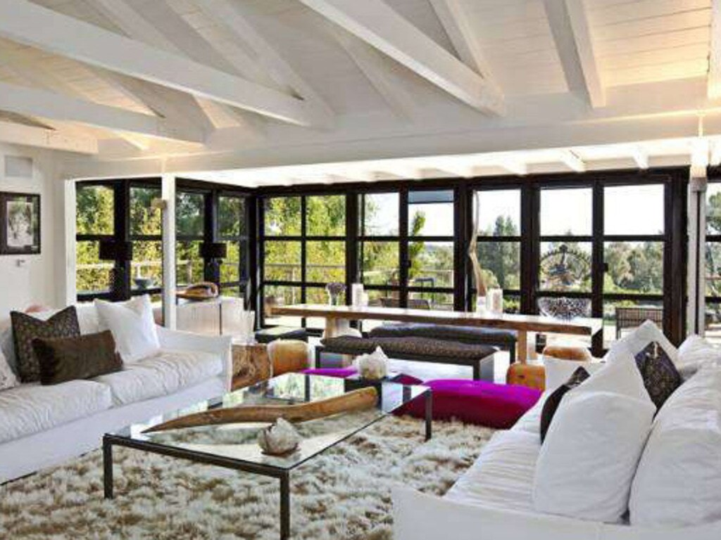 Liam Hemsworth's former house in Malibu before it burnt down. Picture: Coldwell Banker