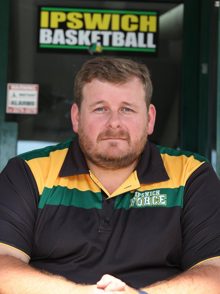 Ipswich Basketball Association president and Force men's coach Chris Riches. Picture: Franca Tigani