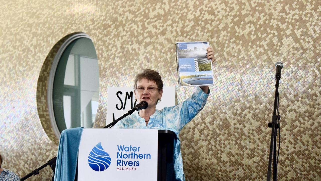 Activist Annie Kia launching the Water Northern Rivers Alliance in Lennox Head.