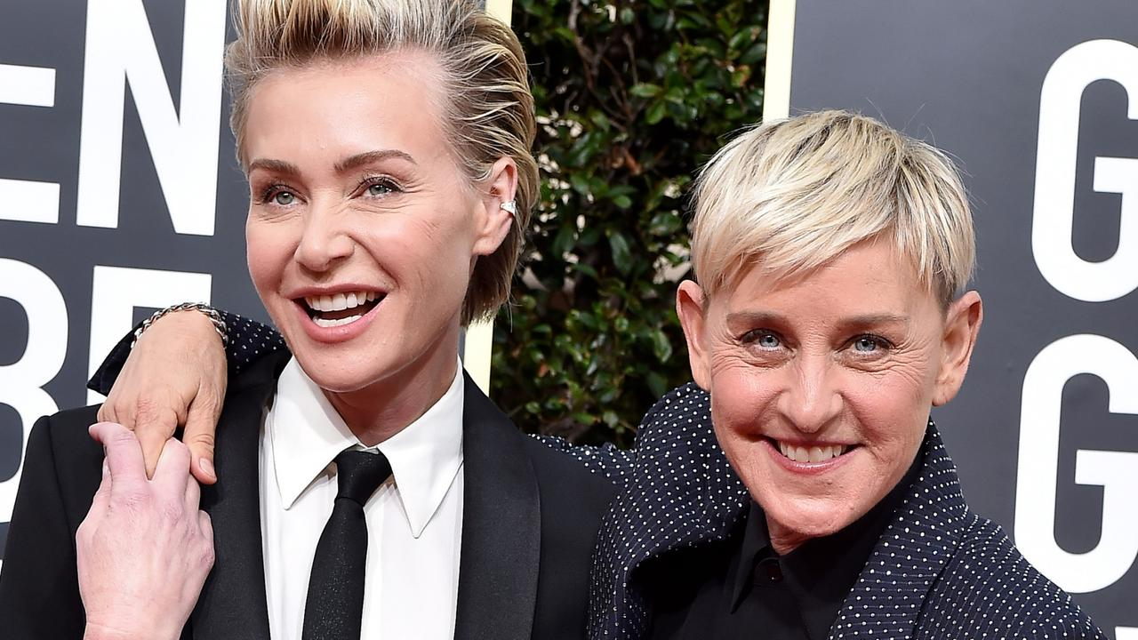 Ellen DeGeneres has addressed fans while recovering at home with Portia. Picture: Getty Images.