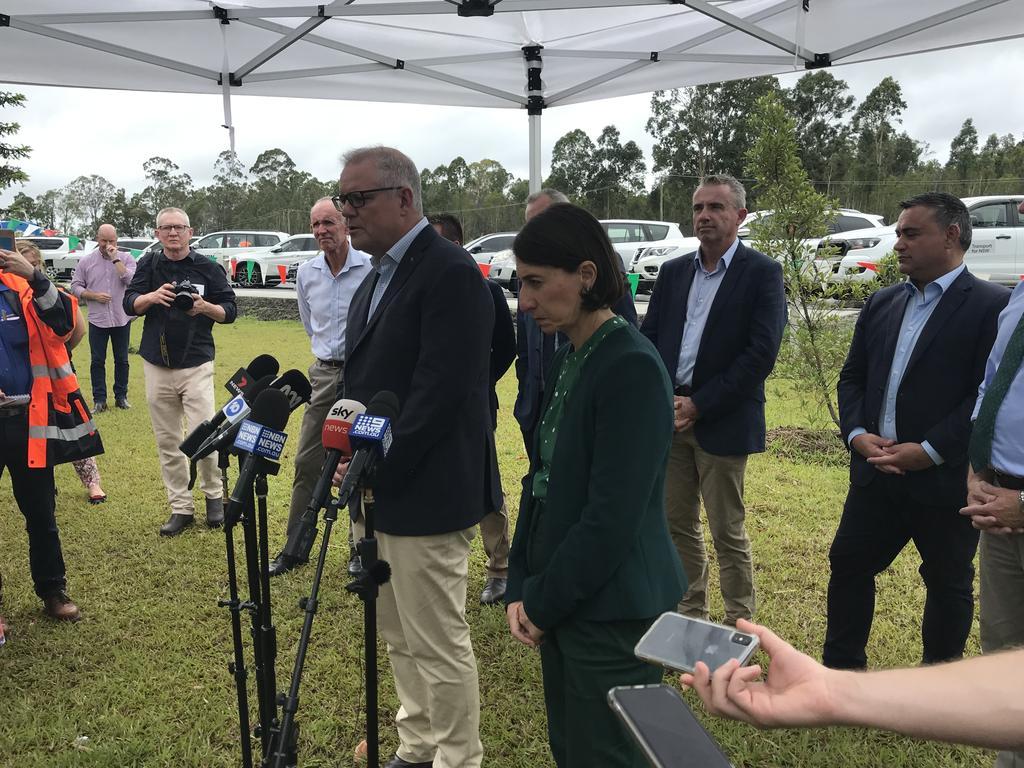 Prime Minister Scott Morrison and NSW Premier Gladys Berejiklian speaking at the announcement.