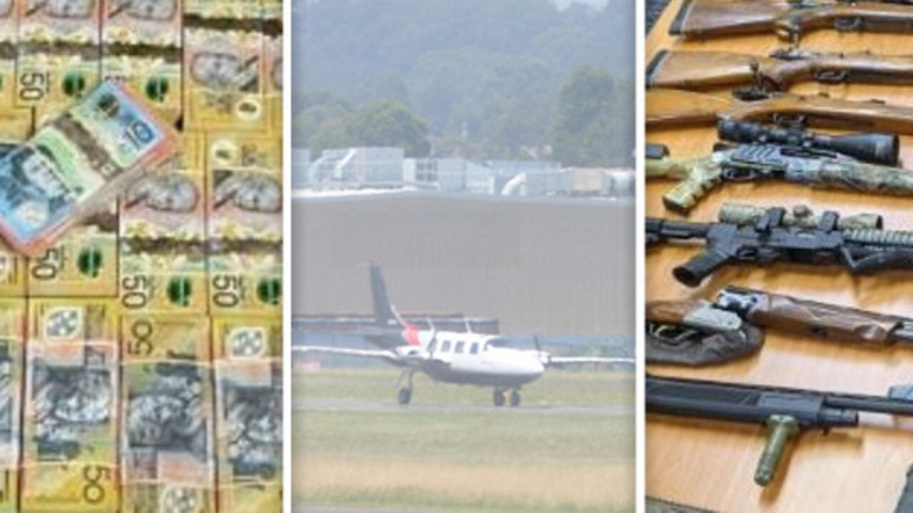 "A major crime syndicate ­allegedly using ""black flights'' to move money, guns and drugs around the country has been dismantled by police."