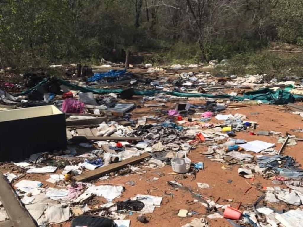 Moranbah community outraged over illegally dumped rubbish along a track at the outskirts of town, less than three kilometres from the mining town's resource recovery centre.