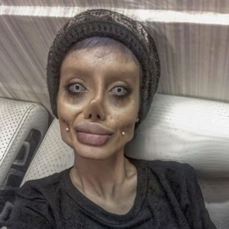 Sahar Tabar became known worldwide as the 'Zombie Angelina Jolie'. Picture: Supplied