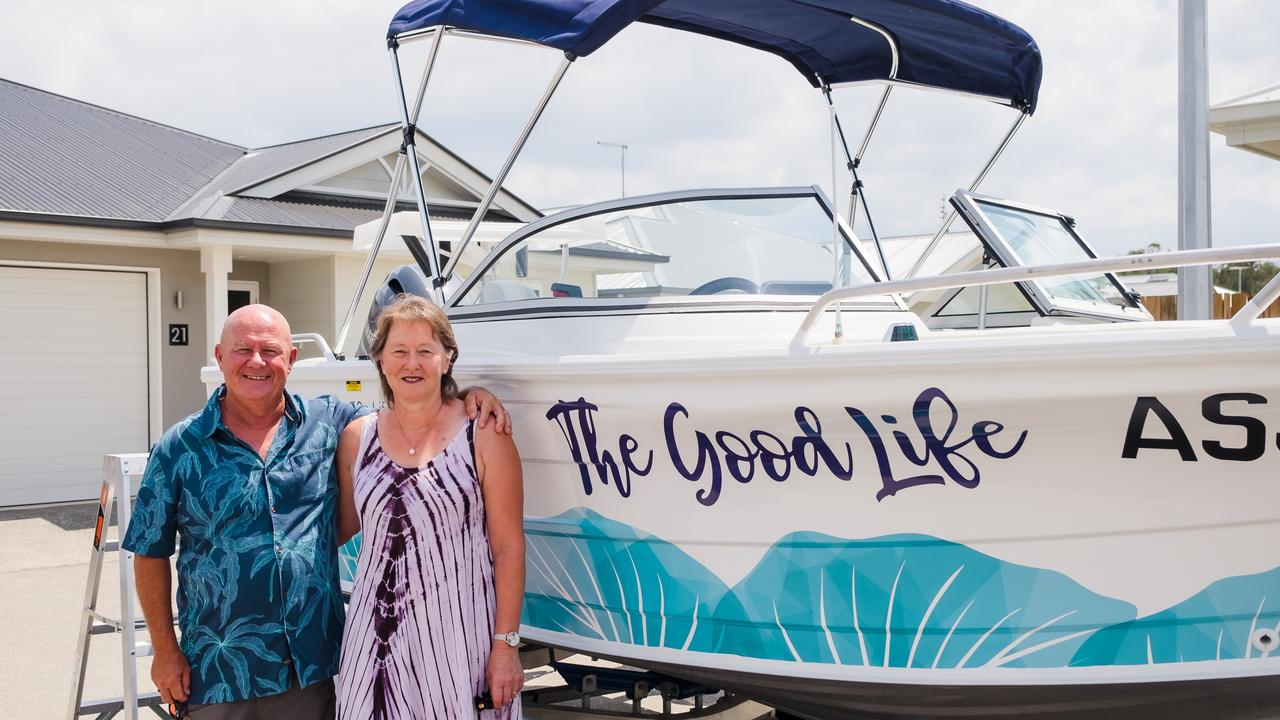 Rob and Jacqui Chappell are new residents at Ingenia Hervey Bay and over the years have owned six boats – the experienced boaties can't wait to fire up the motor.