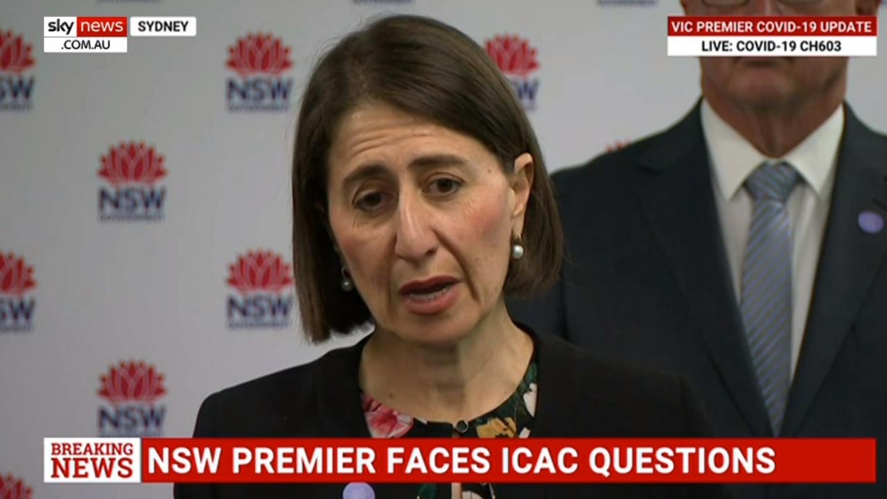 Watershed moment... Gladys Berejiklian faces questions.