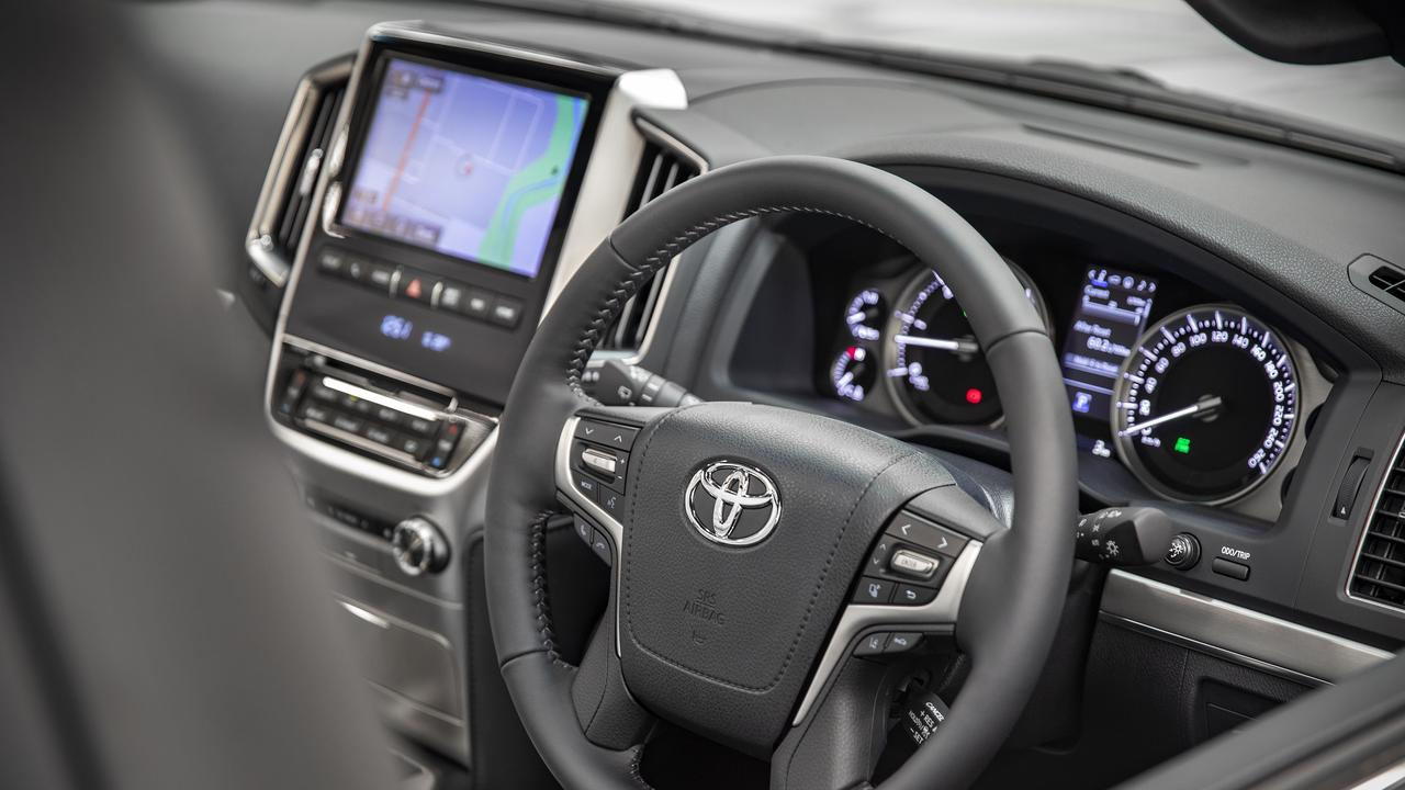 Infotainment is a mixture of old and new in the Toyota LandCruiser 200 Series.