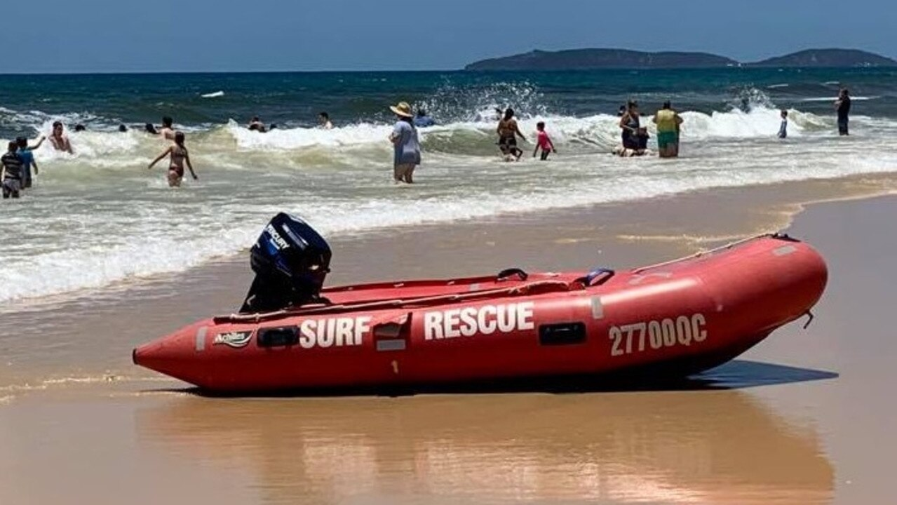 Paramedics are assessing a beacher goer who was dumped at a Coast beach. Picture: File.