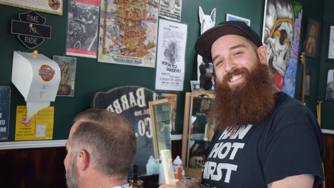 Loco Barbers Co on Mellor St is an eclectic mix of decor with a decidedly masculine feel. Barber Tomi Rooney is one half of the Loco Barbers Co team.
