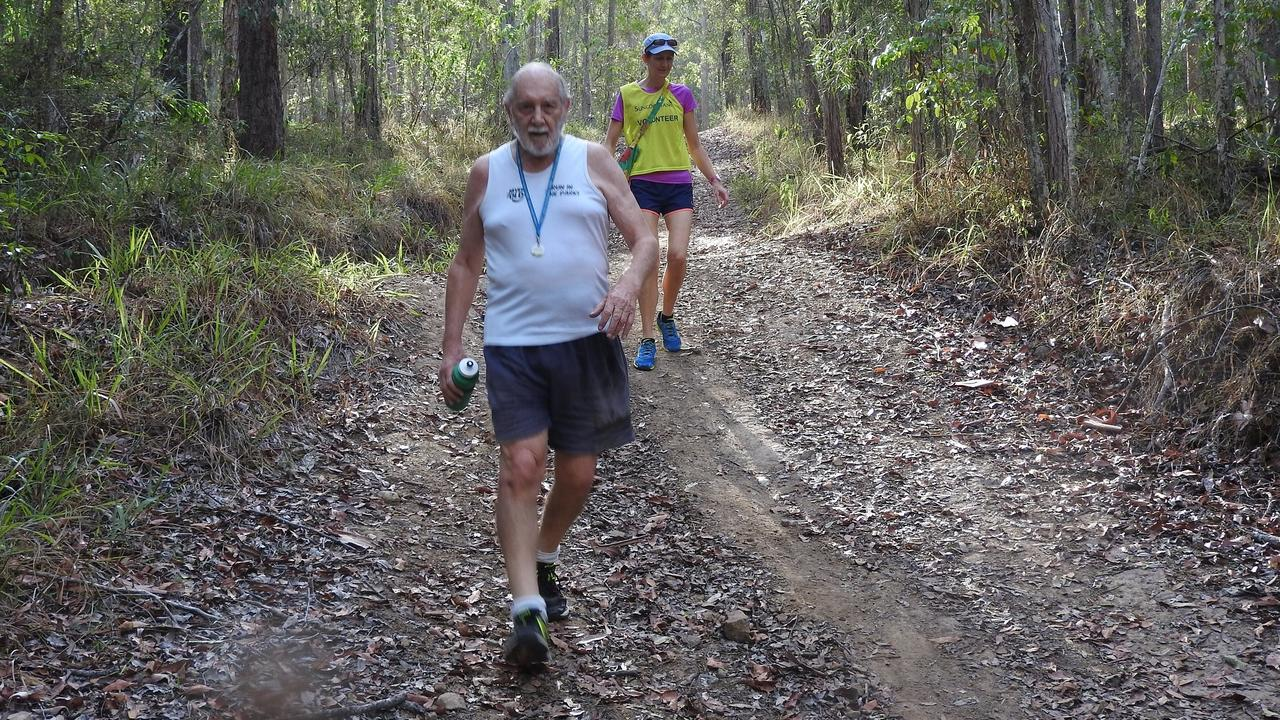87-year-old John Taylor on the 5km trail for Parkrun.
