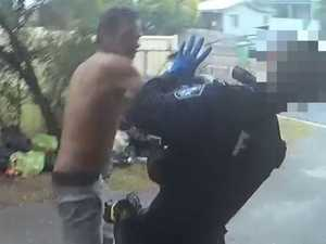 Shocking video shows Iced-up thug bashing female cop