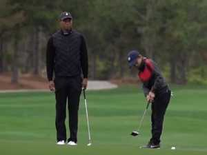 Tiger junior wants to 'get a win' with dad