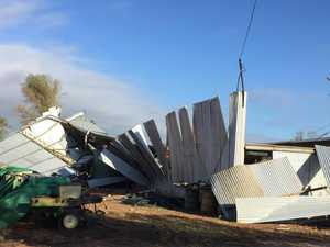 'Mad twister': Shed blows away as CQ farmer shelters inside