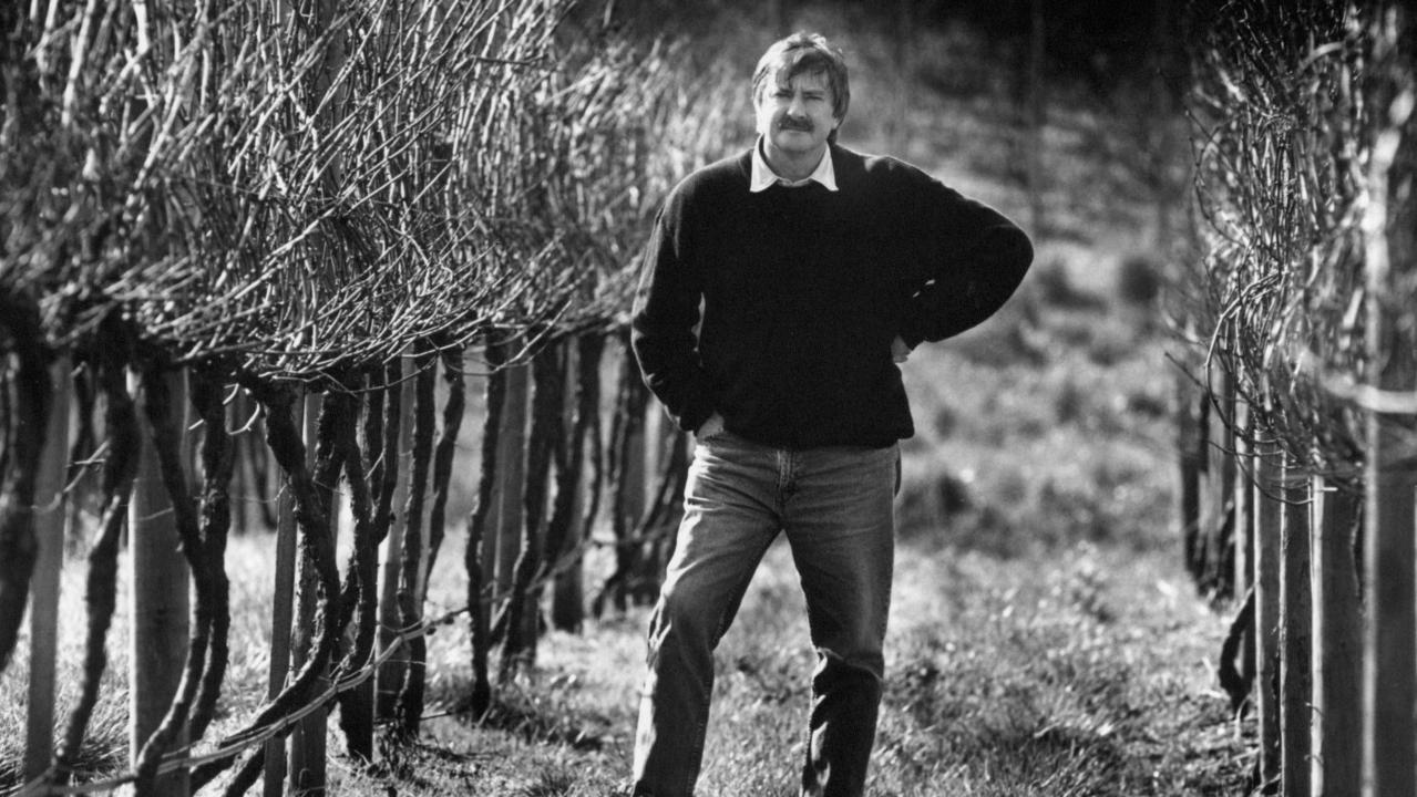An earlier picture of Brian Croser in his vineyard.
