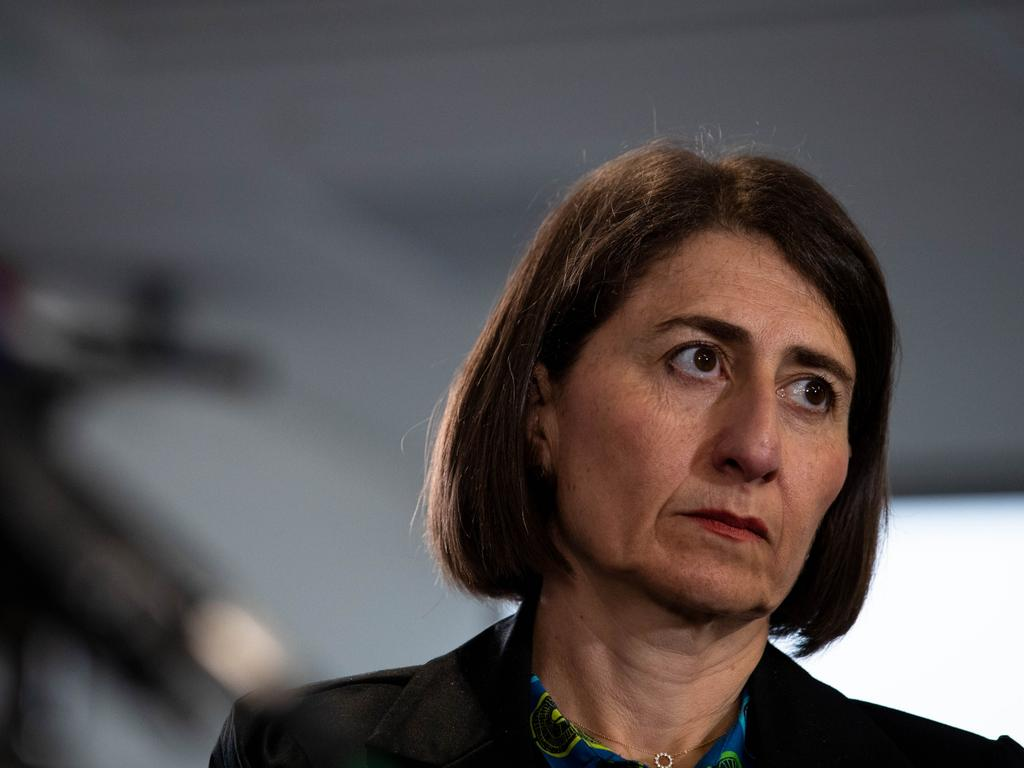 NSW Premier Gladys Berejiklian announced the state is cracking down on international airline workers. Picture: Janie Barrett/Sydney Morning Herald via NCA NewsWire