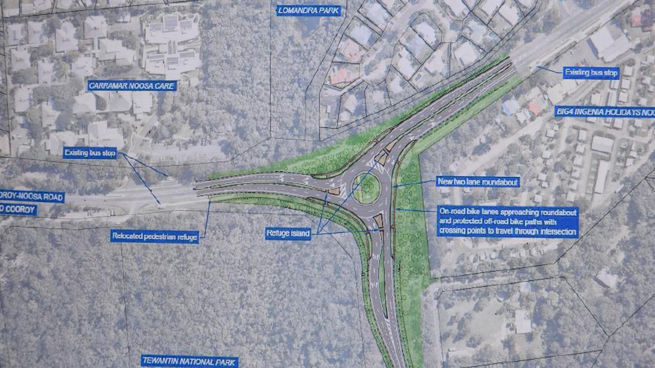 The $9 million Beckmans Rd roundabout design.