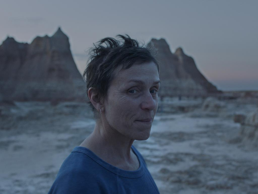 Frances McDormand in the Nomadland. Picture: Searchlight Pictures