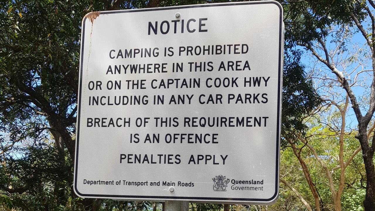 A former cess pitt littered with human waste at Buchan Point has been cleaned up after the Department of Transport finally erected no-camping signs. PICTURE: NICK DALTON