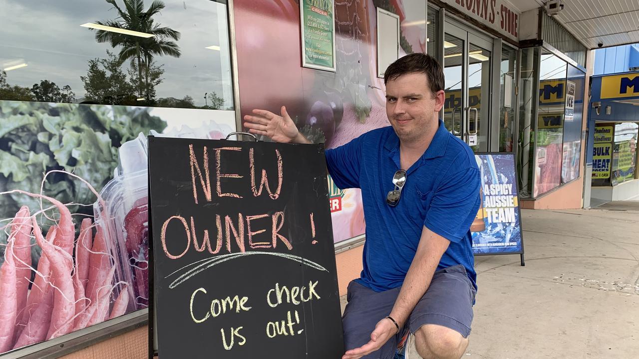 Ashley Learoyd, new owner Heilbronns Grocery Gympie