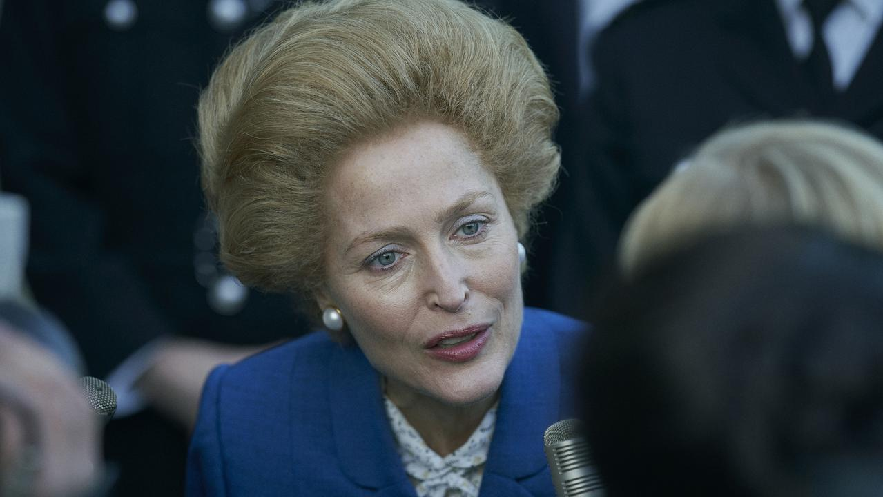 Gillian Anderson's portrayal of Margaret Thatcher in season 4 of The Crown has been praised by fans. Picture: Netflix.