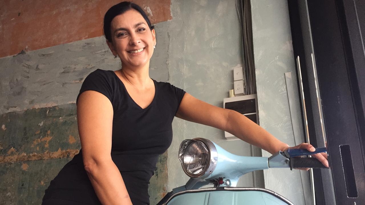 Jodi Giorno, Emilia's Cafe changing Vespa Espresso Bar