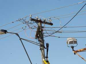 UPDATE: Powerlines down in busy Nth Rocky street