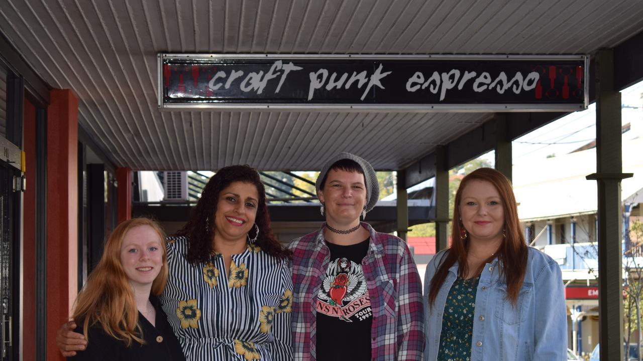 The new Craft Punk Espresso team – Maddie Shadbolt, Raj Begeda, Kaylene Pettit and Alidiya Averillo.