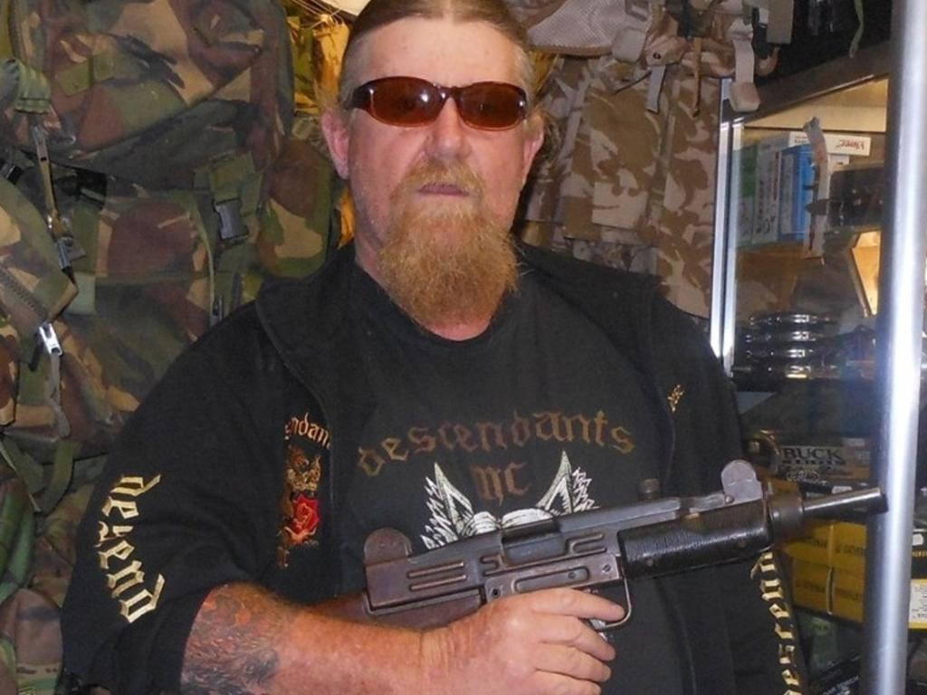 Mark Barford poses with a firearm on his Facebook page.