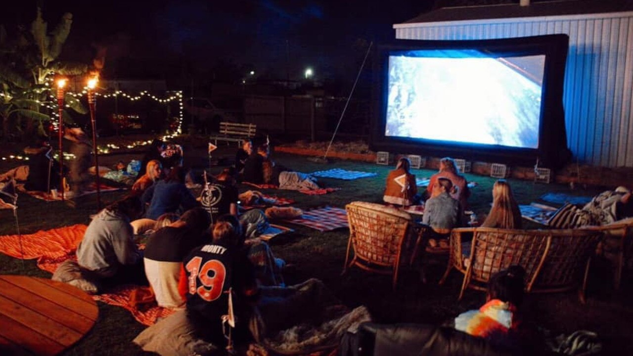 The cafe hosts regular movie nights for the community. Picture: Third Ground Coffee House