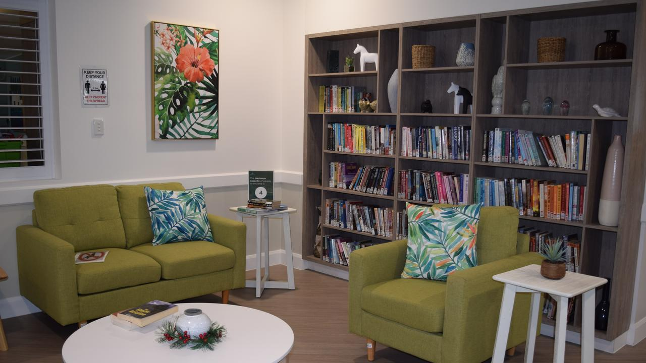 A library nook at Murroona Gardens. Photo: Elyse Wurm