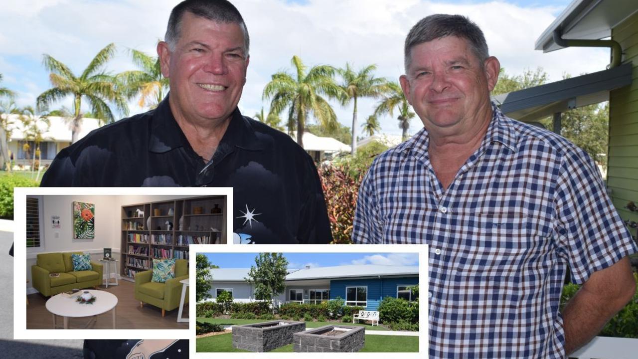 Incoming Murroona Gardens CEO Ross Meier and retiring CEO Greg Pollard. Photo: Elyse Wurm