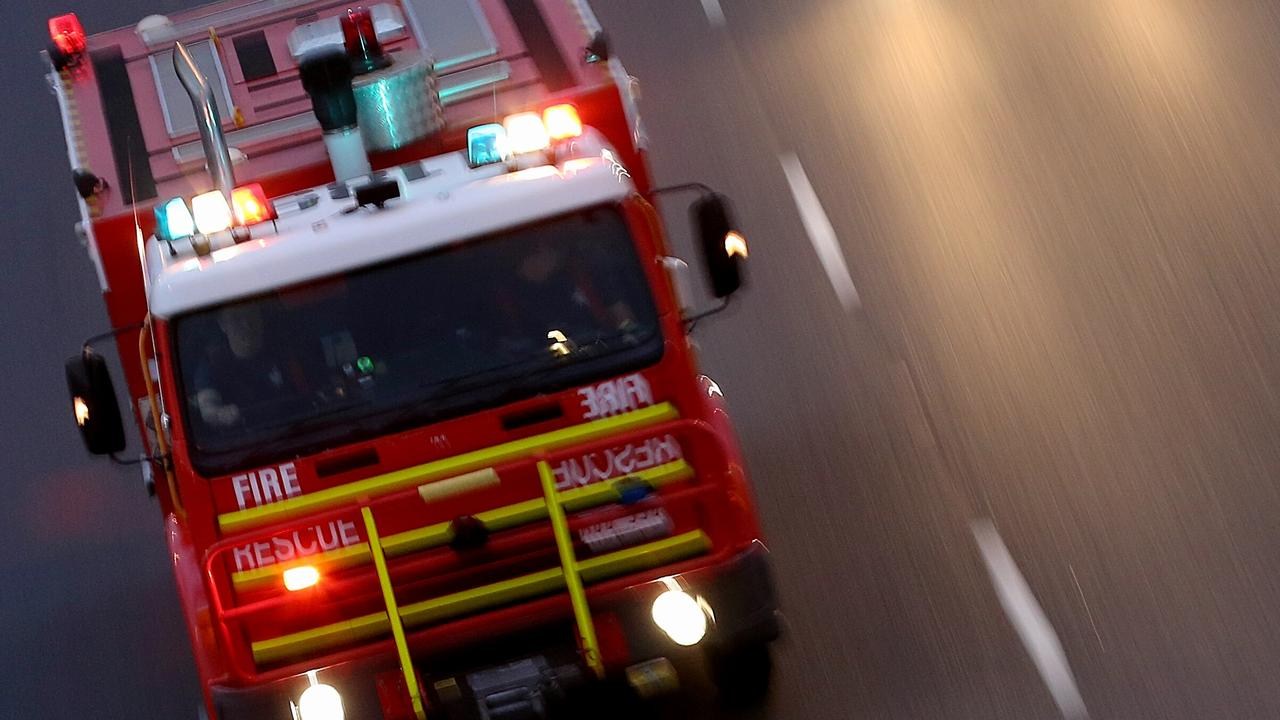 Two people have died and arson squad detectives are investigating after a blaze broke out at a house.