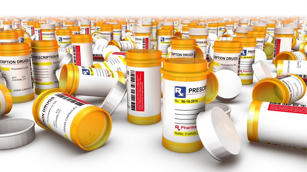Close up of Empty Pill Bottles