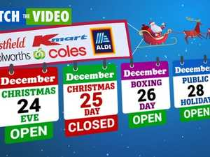 Holiday opening hours of major Aussie retailers