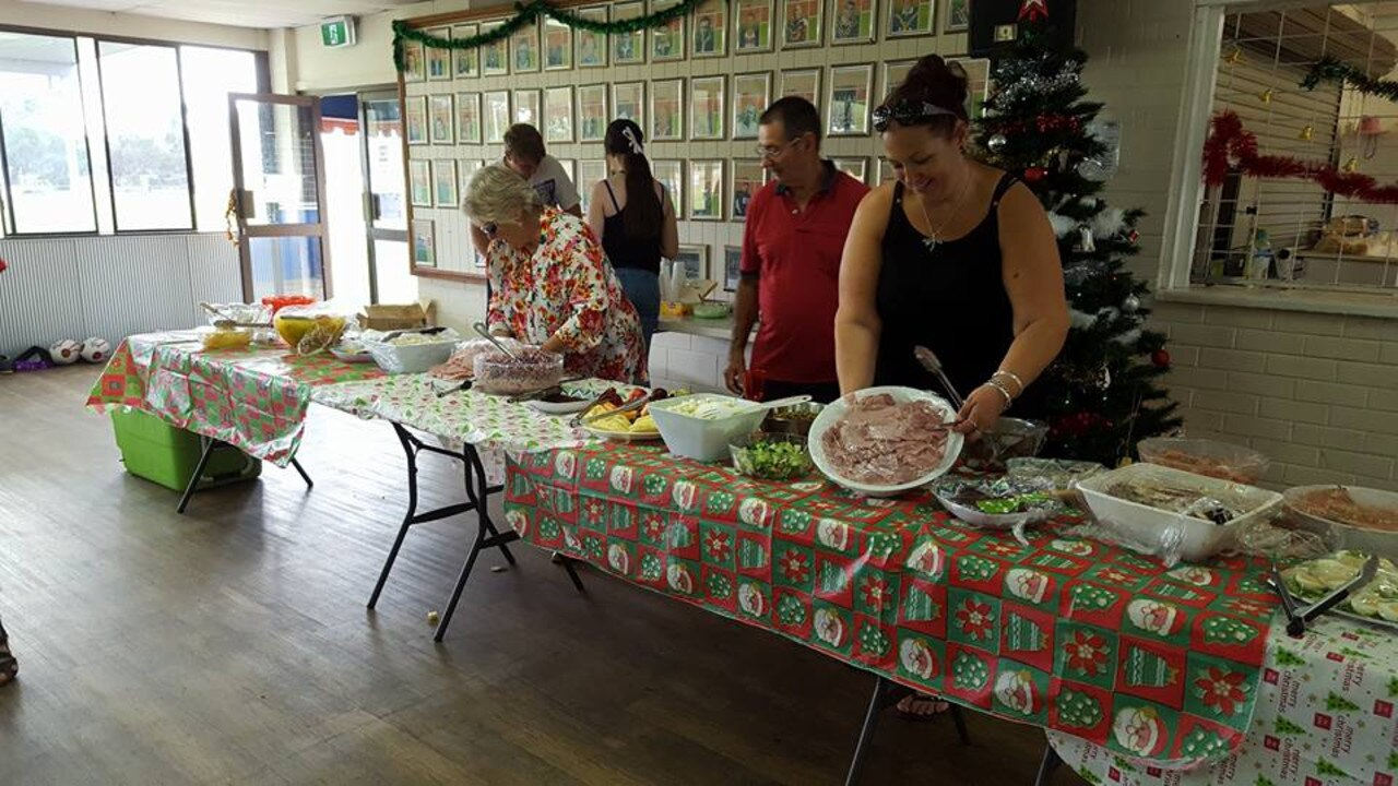 GIVING BACK: Suzette Benz and mum Lorraine Goldspink at their last Warwick Community Christmas Lunch.