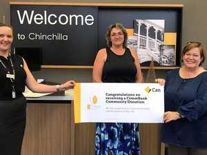 Chinchilla bank employees support locals through donation