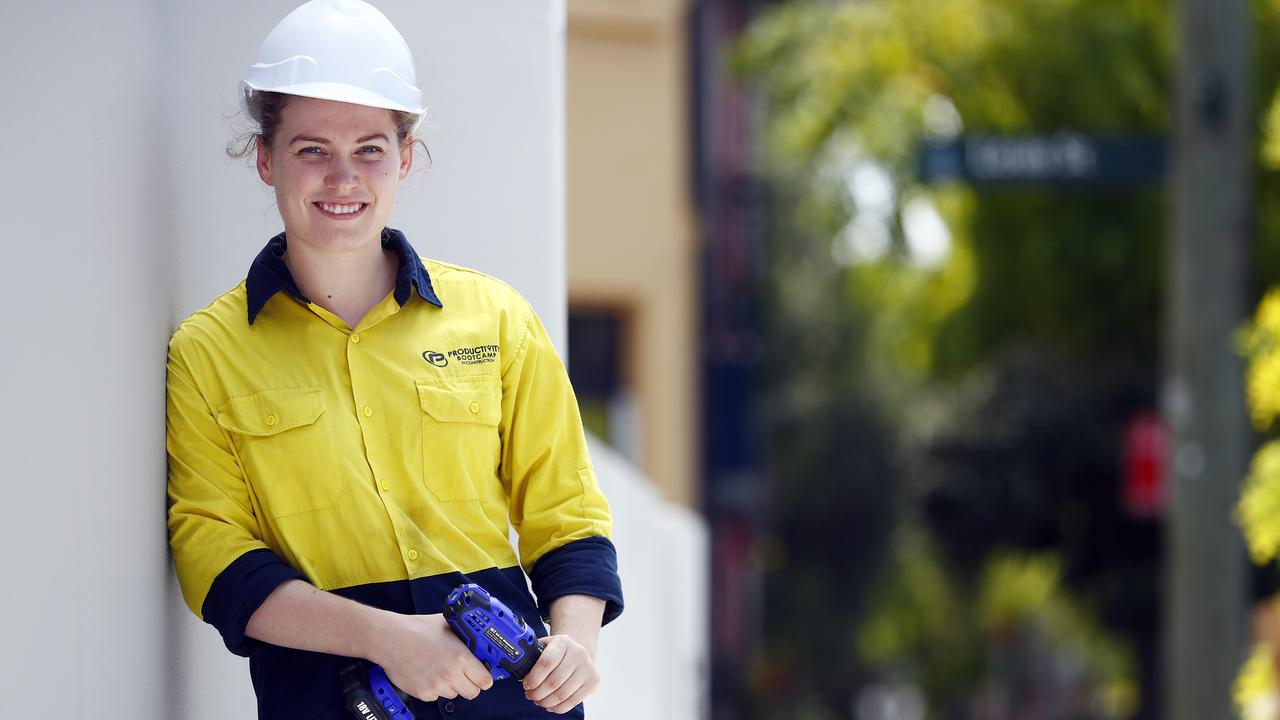 Apprentice electrician Phoebe Lawrie ditched a university degree in economics and philosophy. Picture: Sam Ruttyn