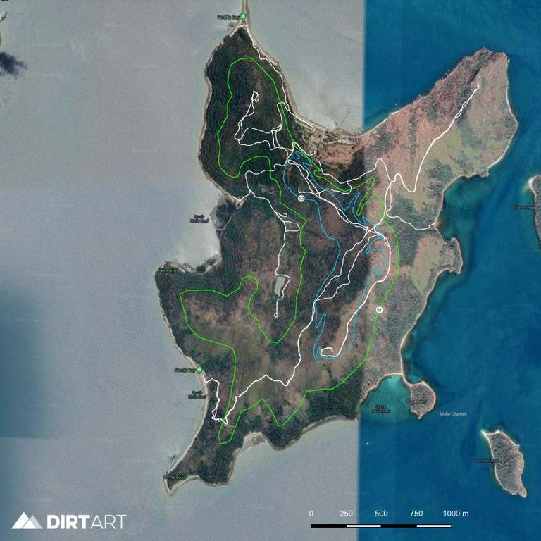 Proposed mountain bike trails on South Molle Island. Photo: Whitsunday Regional Council