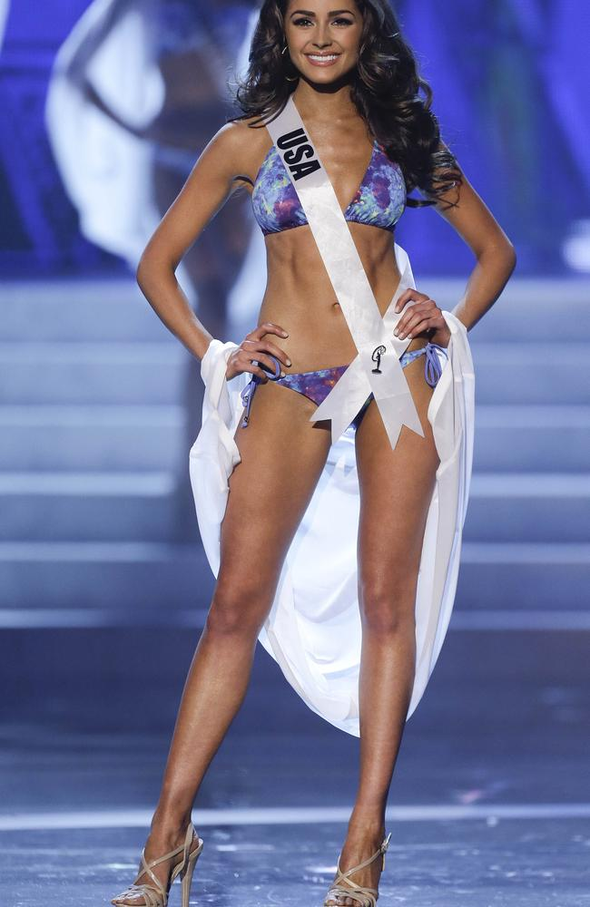 Olivia is a former beauty queen and Miss Universe. Picture: AP Photo/Julie Jacobson.