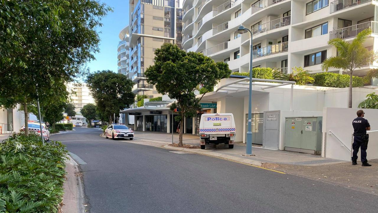 Police have confirmed a man died after falling from a balcony at Mooloolaba.