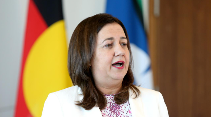 Premier Annastacia Palaszczuk announces the new restrictions for NSW residents and addresses questions over the border. Picture Steve Pohlner