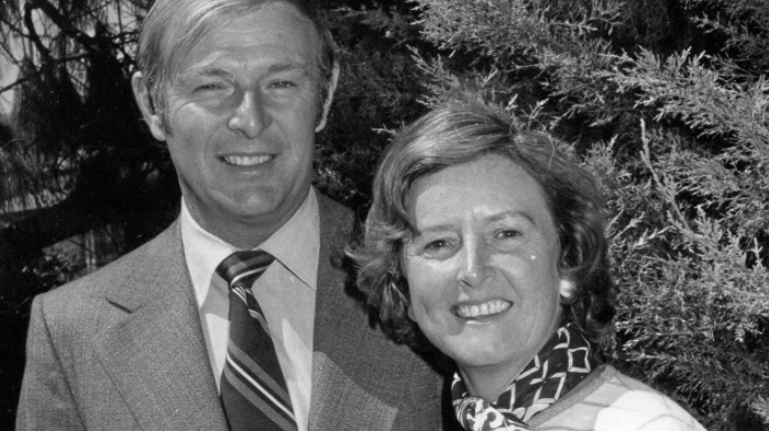 Former deputy PM Doug Anthony with his wife Margot. Picture: supplied.