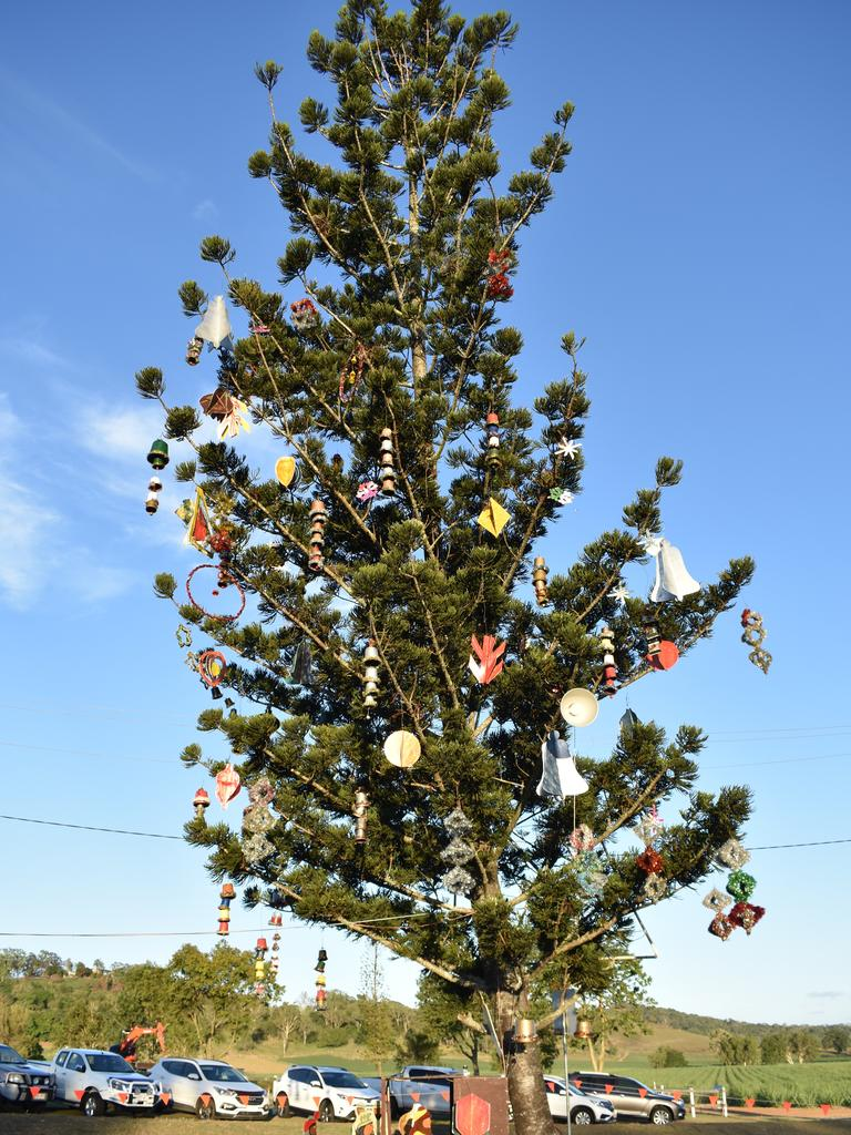 Habana Carols Under the Stars 2020: This Christmas tree was decorated by locals. Picture: Melanie Whiting