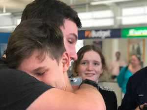 REUNITED: Bundy teen home after months on navy base