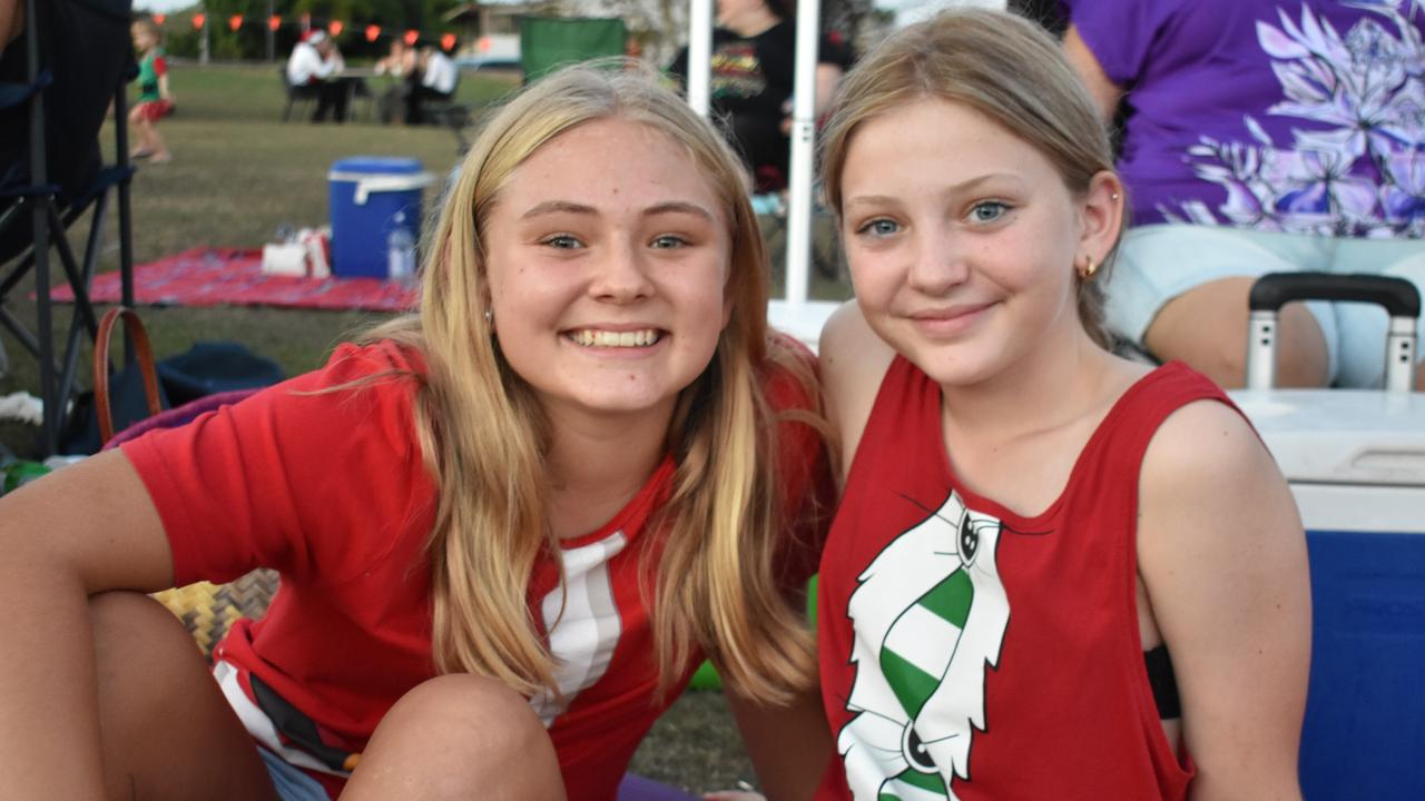 Habana Carols Under the Stars 2020: Tenille Cotter, 12, and Keeley Logan, 12. Picture: Melanie Whiting