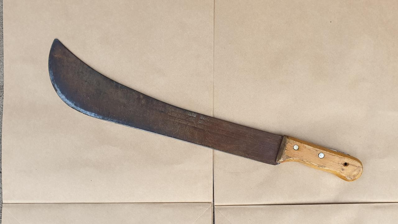 A Tweed man was attacked with a machete.